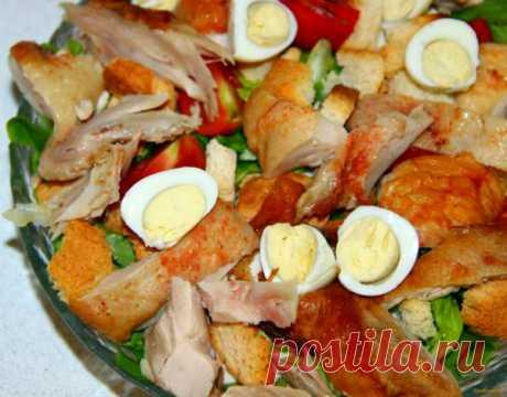 Las ensaladas con la gallina ahumada - Perchinka la ama