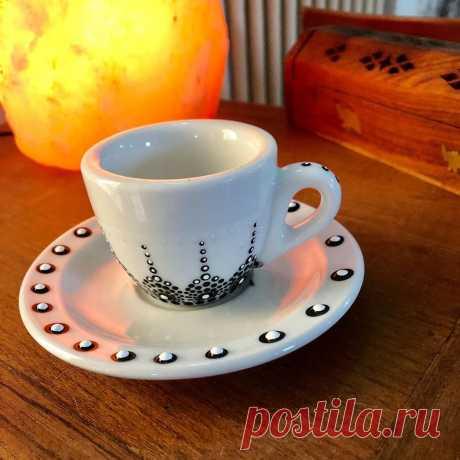Creato Con Amore в Instagram: «Tazzina da caffè decorata puntinismo…» 7 отметок «Нравится», 0 комментариев — Creato Con Amore (@pa.marzoni) в Instagram: «Tazzina da caffè decorata puntinismo…»