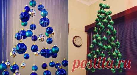 Кто сказал, что елка обязательно должна быть осязаемой! 10 креативных идей для новогоднего убранства дома.