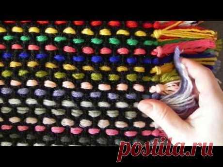 Вязание : Цветной коврик,плед,покрывало(крючком)