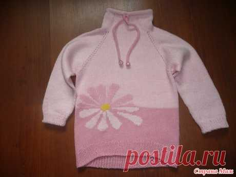 """Sweatshirt for a vnuchenka """"Погадаем"""". - Knitting for children - the Country of Mothers"""