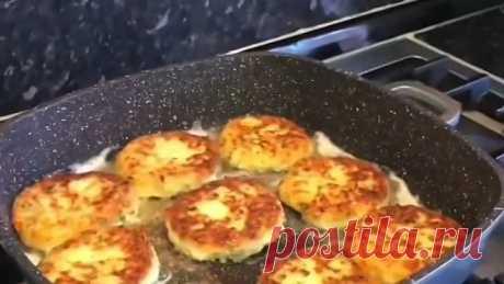 Вкусные картофельные оладьи с сыром