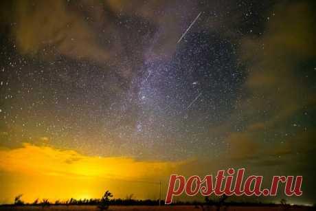 Завтра ночью на небе можно будет увидеть до 20 метеоров в час. Для нас постараются сразу три потока, два из которых будут на пике своей активности.