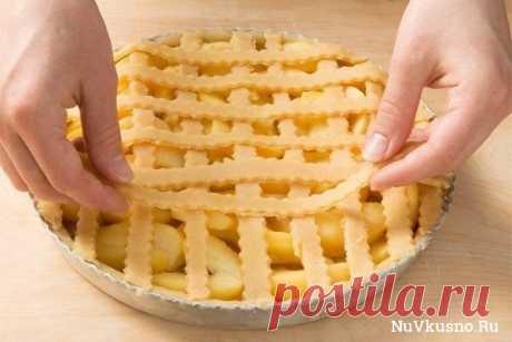 Яблочный пирог по немецкому рецепту ·