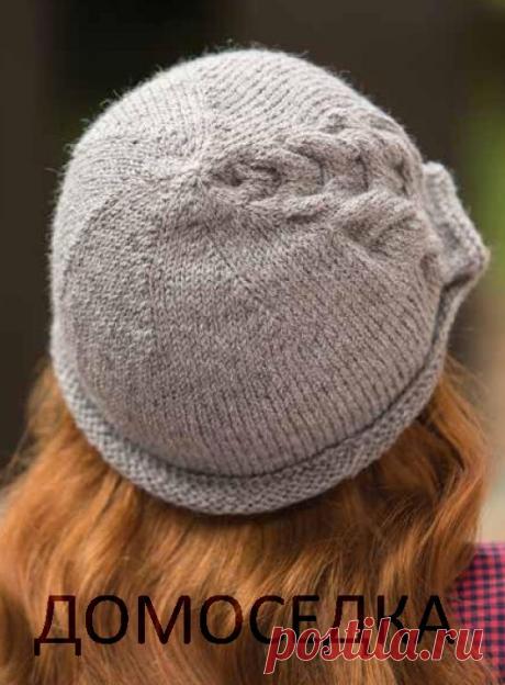 Вязаная спицами шляпка | ДОМОСЕДКА