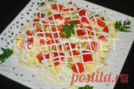 Салат с крабовыми палочками и помидорами. Пошаговый рецепт с фото • Кушать нет