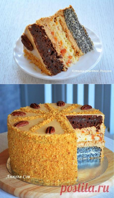 """Торт """"Дамский каприз"""" по рецепту Ирины Хлебниковой."""
