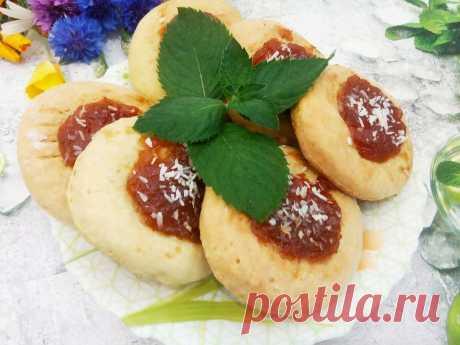 Домашнее рассыпчатое печенье с повидлом или джемом | Кулинарный блог Галины Кундиус | Яндекс Дзен