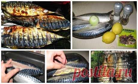 Лучшие кулинарные рецепты: Скумбрия-гриль с лимоном