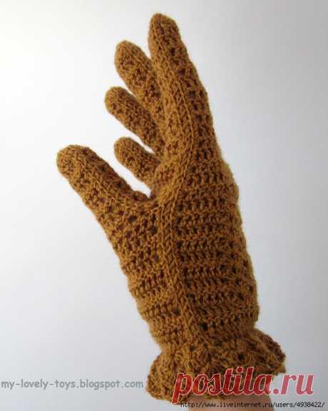 Вязание перчаток крючком. МК.