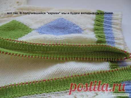 Мастер-класс по вшиванию застёжки-молнии в вязаное изделие