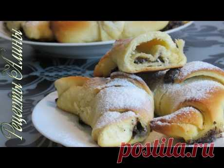 Рецепты Алины. Вкусная выпечка с маковой начинкой. Delicious pastries with poppy seeds. - YouTube