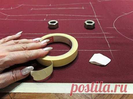 Как кроить шелк, шифон и другие подвижные ткани/ Секрет кроя/ Лайфхак