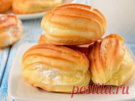 Как приготовить заварные пирожные с нежной начинкой - рецепт, ингредиенты и фотографии