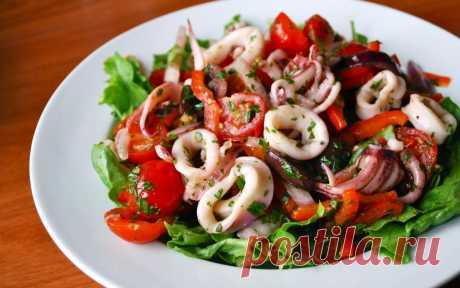 Простой и самый вкусный салат с кальмарами - Кейс советов