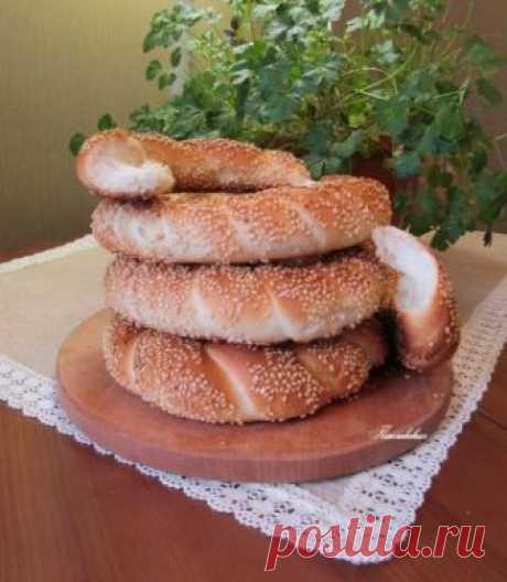 """Las roscas turcas """"Симиты"""" por la receta de T.Berkovsky."""