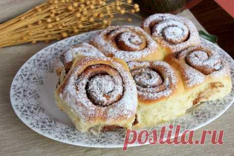 Нежные булочки с корицей: menunedeli — хороший вариант теста + дельные советы