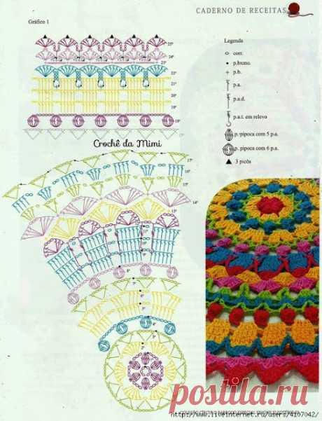 crochet home: multicolor doily