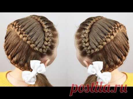 Красивая #прическа для школы / змейка дракончик / #прически на длинные волосы