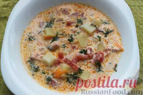 Recipe: Creamy trout or salmon soup on RussianFood.com