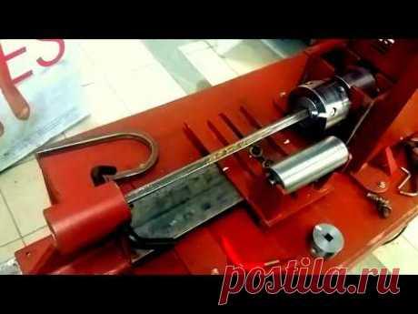 самодельный станок для холодной ковки с гидравлическим трубогибом