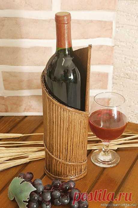 Плетение из газет. Подставки для вина и шампанского.