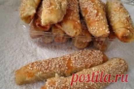 Сырные трубочки с кунжутом - пошаговый рецепт с фото на Повар.ру