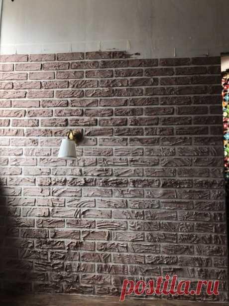 Самодельная имитация кирпичной кладки | Наши дома