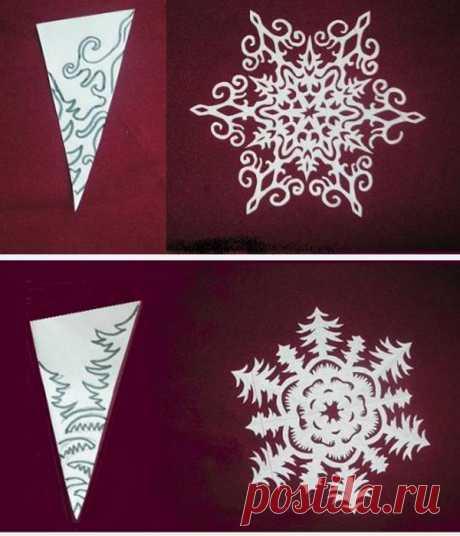 Шаблоны для красивых снежинок