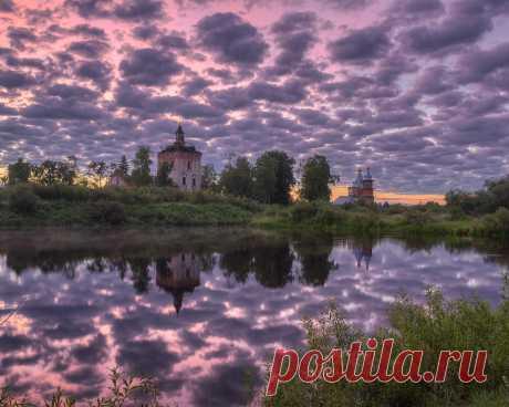Картинки деревня, заручевская, архангельская область, вельский район, ц иоанна предтечи - обои 1280x1024, картинка №363475