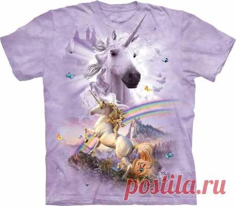 Арт № 108269 Футболка  3D The Mountain Classic - Double Rainbow Unicorn Бесшовная футболка -варенка 100% хлопок Размеры Детские S, M, L,XL  +  Взрослые  S, M, L,XL, XXL, XXXL Рисунок нанесен красками на водной основе. Не выгорает, не тянется