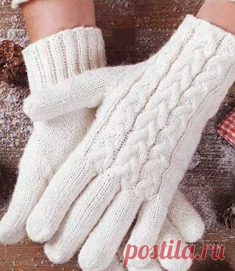 Gloves spokes \/ Knitting by spokes of accessories \/ PassionForum - master classes in needlework