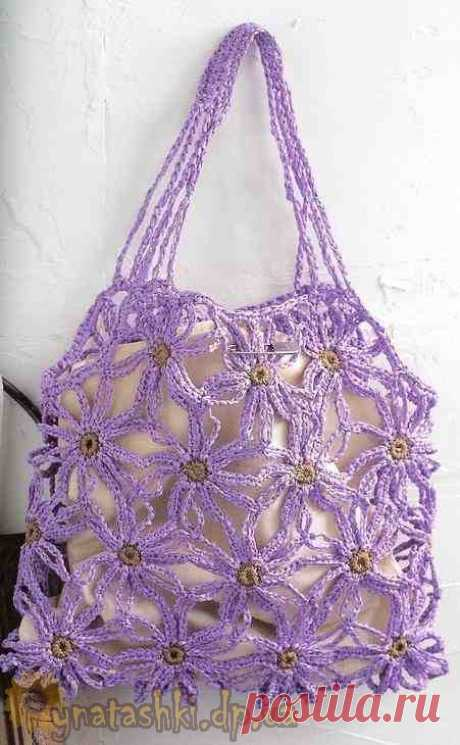 Легкая вязаная сумка