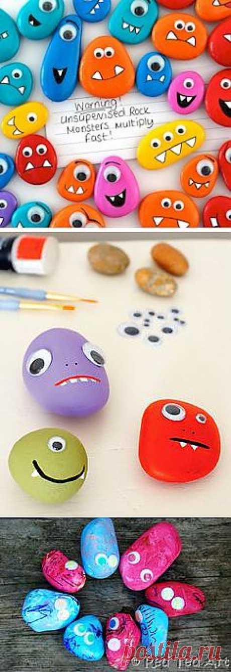 раскрашенные камушки для детских игр