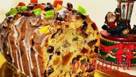 CHRISTMAS CAKE WITH DRIED FRUITS AND NUTS | TASTY RECIPES FROM NATALYA | Yandex the Zen
