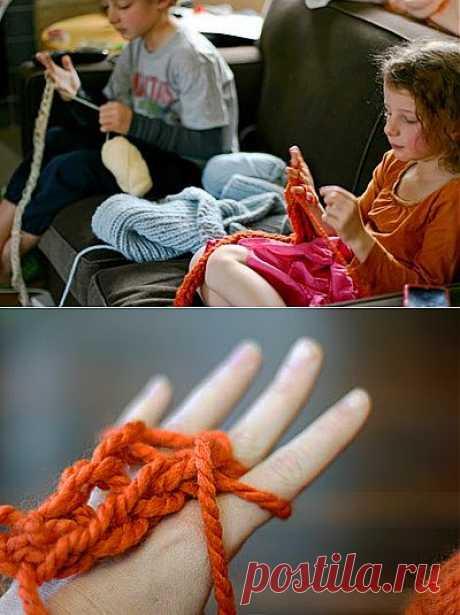 Мастер-класс: вязание на пальцах (+видео)   Домохозяйки