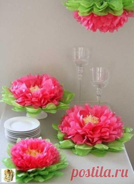 Гигантские цветы к празднику