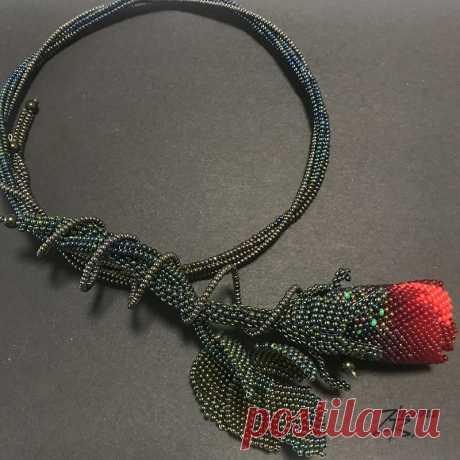 My jewelry: Колье Роза