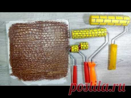 How to make the decorative roller for hard putty. Decor the hands