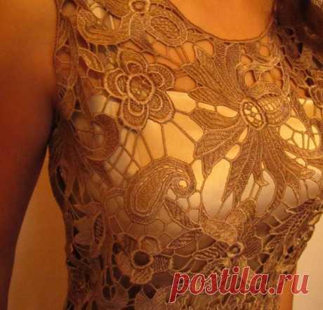 """Шьем кружевное платье: горловина и """"невидимые"""" вытачки Для настоящей женщины кружевных платьев много небывает. Авпредстоящие весенне-летние дни платья всегда..."""