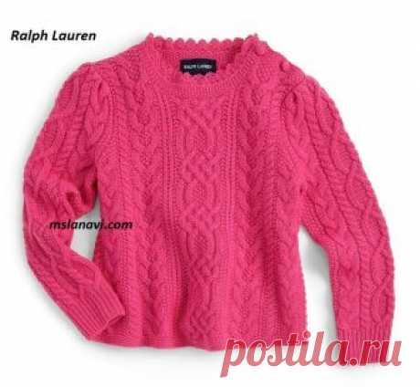 Детский свитер спицами от Ralph Lauren - СХЕМА