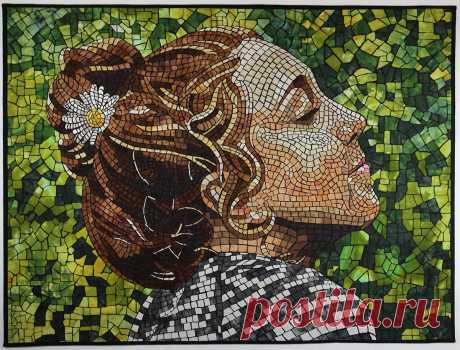 Learn how Heidi Proffetty creates beautiful mosaic art quilts
