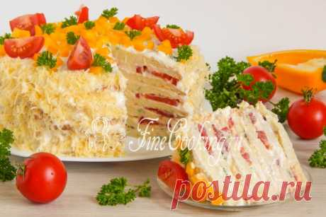 Кабачковый торт с помидорами Простые и легкие рецепты вкусных домашних блюд занимают в моей семье лидирующие позиции.
