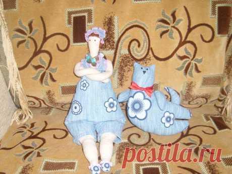 Дама с тильдо-котом