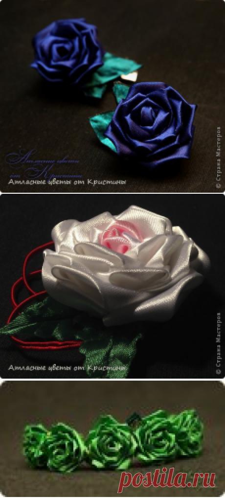 МК розы канзаши   Страна Мастеров