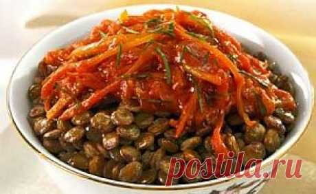 Чечевица по-южному - рецепты вторых блюд из чечевичной крупы