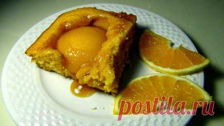 Персиковый пирог с апельсиновым ароматом.