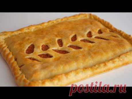 Простейший пирог с капустой из теста на кефире без дрожжей