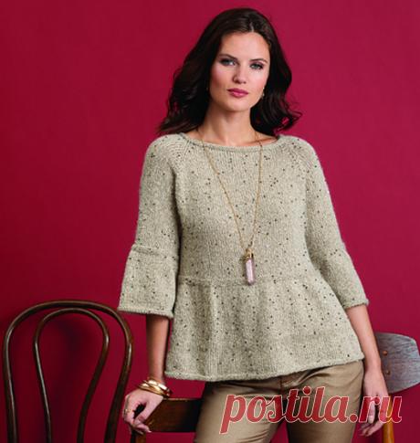 Вязаный пуловер BellSleeved | ДОМОСЕДКА