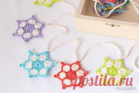 Anabelia craft design: DIY: How to make a вязание крючком stars garland - Задача дружественных nr. 71